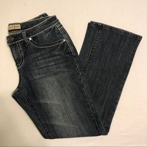 LIKE NEW Earl Jean Bootcut Jeans - Bling Pockets